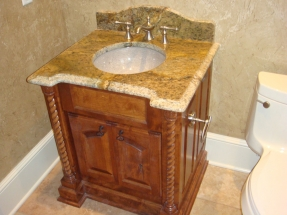 Custom Cabinet and Sink