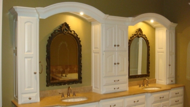 Double Vanity and Custom Cabinets