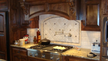 Custom Kitchen Tile and Vent