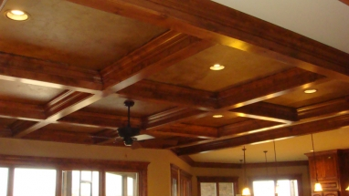 Custom Wooden Beam Ceiling