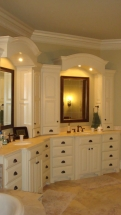 Double Vanity and Cabinets