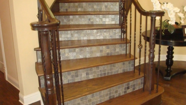 Wooden Stairs With Tile
