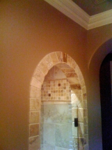 Arched Tile Shower Doorway
