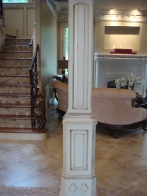 Custom Designed Wood Columns