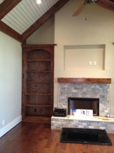 Custom Fireplace and Mantel